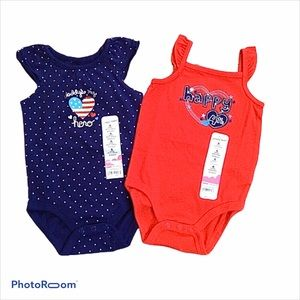 Jumping Beans 4th of July onesies